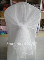 white organza chair hood sash wholesale price