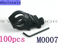 wholesale 100pcs Tactical Offset Flashlight Mount 25.4MM Diameter M0007