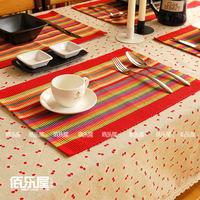 100% cotton placemat  Fashion Stripe table mats  Fabric insulation pad 1pc