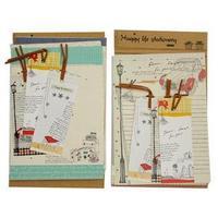 Free shipping 5sets/lot  best gift Korea stationery cartoon paper envelope set  letter paper + bookmark