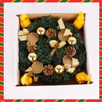 5pcs/Lot Christmas tree ornaments Christmas gift candle wreath Garland 28cm Christmas supplies