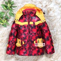 Детская одежда для девочек Sale Baby Cotton Coat Child winter female outerwear thickening plus velvet wadded jacket cotton-padded jacket