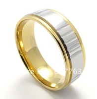 9MM Fashion Mens 316L Stainless Steel Comfort Fit Wedding Band Rings SZ#7-13,Gold Silver or Black Silver Color For Choice
