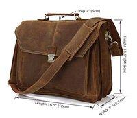 Item 7083B,New arrival Men's fashion vintage genuine leather handbags,mens leather messenger bag  briefcase multifuctional