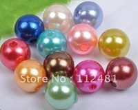 Cheapest  Mixed Color 105pcs 20MM  Acrylic Pearl Beads ,Acrylic Chunky Beads, Imitation Fake Pearl Beads for Necklace Jewelry