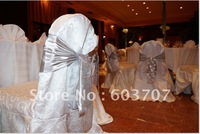 Top quality white glory damask chair cover
