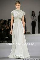 Elegant! 2013 Elie Saab Dress Couture Chiffon Turtle Neckline Shining Beads Formal Elie Saab Evening Dress Gown