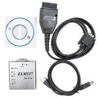 Free Shipping ELM 327 1.5V USB CAN-BUS Scanner ELM327 Software OBD-II Software for ELM327 USB Code Reader &Scan Tools