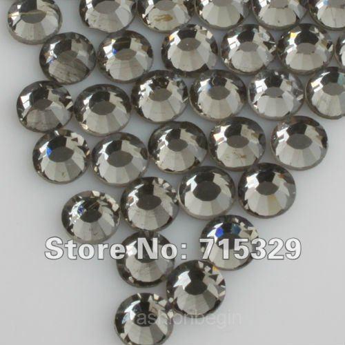 Black diamond ss10 3mm wholesale high quality flat back crystal rhinestone cell phone diy10gross(China (Mainland))