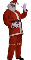 Free Shipping +Dropship + Wholesale Cheap Full Set Men Santa Claus Costumes Plus Size M XL LB17075
