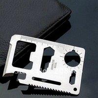Free Shipping 10pcs/lot plus size 11 function in 1 Multifunction Tool Pocket saber Card Outdoor Camping life-saving fillet Knife