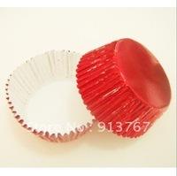 200pcs red cupcake liner foil ,cupcake paper