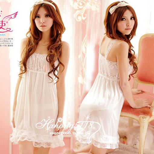 Summer sleepwear sexy spaghetti strap sleepwear at home service princess suspender skirt BH9027(China (Mainland))