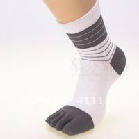 multifuns Wholesale 6Pairs/lot STRIP Men's Cotton Five Fingers Toe Socks 5 fingers socks Stockings Free Shipping