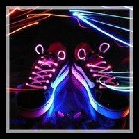 Free shipping New 2PCS/Lot luminous led shoelace flashing colored neon lamp shoelace glisten light #8121