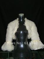 2012 Hot sale NEW Ivory Styles Faux Fur Wedding Wrap Shrug Bolero Jacket Bridal Coat Shawls  D-23