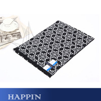2012 silk brushed male business casual scarf elegant black and white plaid
