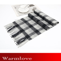 Warmlove2012 100% full wool thermal scarf classic grey haig elegant