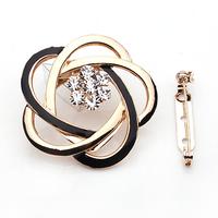 A059 accessories crystal rhinestone brooch silk scarf buckle silk scarf buckle dual-use flower silk scarf