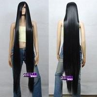 Black 1.5m Dynamic Styling Long Cosplay Wigs 81 /001  queen brazilian women's Wig