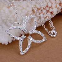 LQ-P013 Free Shipping 925 silver necklace 925 Silver fashion jewelry Necklace pendants Chains , biea jzla squa