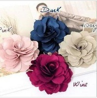 Lady Satin Peony Flower Hair Clips Brooch New
