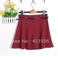 Женская юбка 2013 new arrive Autumn and winter ladies fashion woolen A skirt package fashion Solid color hip skirt ow666