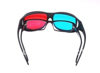 2012 Free shipping 40PCS/Lot Universal type 3D glasses/Red Blue Cyan 3D glasses Anaglyph NVIDIA 3D vision Plastic glasses