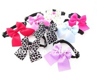 free shipping(100pcs Can be customized size, assorted sizes and color) fashion dog bow ties