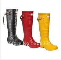 Cross-border launched rain boot, luxury crocodile grain