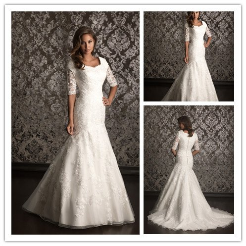 Long Sleeve Lace Dress on Lace 3 4 Sleeve Wedding Dress Picture In Wedding Dresses From Sofie