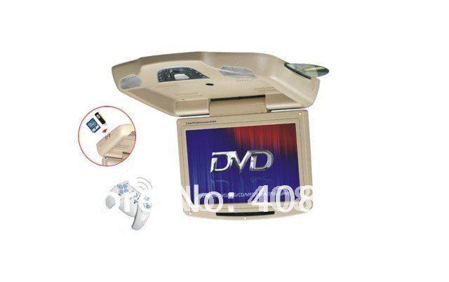"11"" Flip Down Car DVD Player Roof Mount DVD Player Flip Down Monitor TV Games IR USB SD FM DIVX Free Shipping For Retail/Pcs(China (Mainland))"