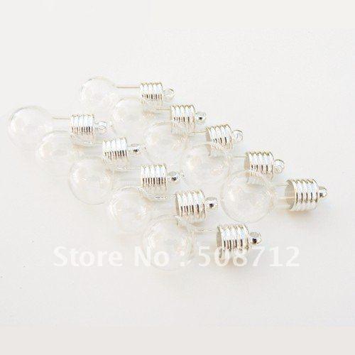 Free shipping!!!!Vial Pendants LARGE GLOBES (b) (vials, glass, globe, miniature, bottles)(China (Mainland))