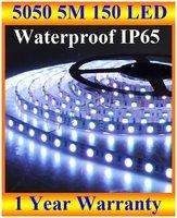 12V/24V led strip 5050 rgb SMD 5M 150LED waterproof IP65 led strip lights 50M/lot halloween lights sale + FREE SHIPPING