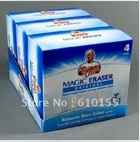 Free shipping3lots=3packs=12pcs Procter & Gamble Mr. Clean Magic Eraser Sponge Cleaner without detergent Magic Sponge seen on tv
