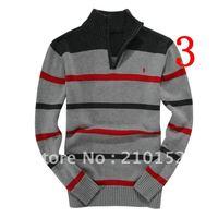 2013 Free shipping promotions  men's sweater Classic fashionable man  half zipper sweater Size M - XXL