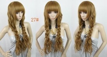 2012 New Hair wiigs,Silky Curly india blended human hair wigs,26inch 200G ,free shipping
