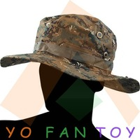 Free Shipping Military Army Round-brimmed Hat Sun Bonnet Digital Woodland Camo Outdoor Cap