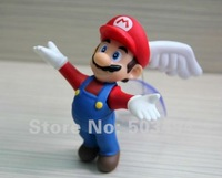 "Retail Super Mario Bros 4.5"" Flying Angel MARIO Action Figure Toy With Wing Sucker Free Shipping"