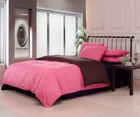 New Beautiful 4PC 100% Cotton Comforter Duvet Doona Cover Sets FULL / QUEEN / KING SIZE bedding set 4pcs colorful pink coffee