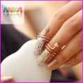 free shipping Fashion Punk Cool Finger Nail Snake Design Ring JZ-72063
