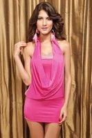 High quality! Fashion pink Dress, Sexy Mini Clubbing Dresses, One Size, DL2570
