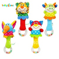 free shipping Baby toy babyfans animal hand stick baby rattle  handbarrows baby hand rattles