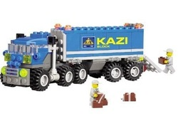 Christmas gift Enlighten Child 6409 educational toys Dumper Truck KAZI DIY toys building block sets,children toys free Shipping(China (Mainland))
