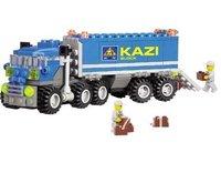 Christmas gift Enlighten Child 6409 educational toys Dumper Truck KAZI DIY toys building block sets,children toys free Shipping