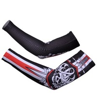 Rock Racing Team 2012 Arm Sleeve Warmers Cycling UV Protection Cycle Bicycle Bike Sport