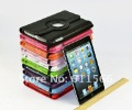 5pcs/lot Lichee Pattern 360 degree Rotation PU leather case for Apple iPad Mini standable cover + Free shipping
