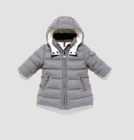 2012 winter children's clothing down coat baby male female child medium-long woolen thickening