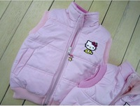 Best Selling! Retail! 2012 fashion children clothing,kids cotton vest with hello kitty (for 1-6 years) free shipping