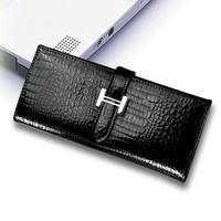 Hot-selling purse female long design japanned leather women's wallet cowhide women's wallet